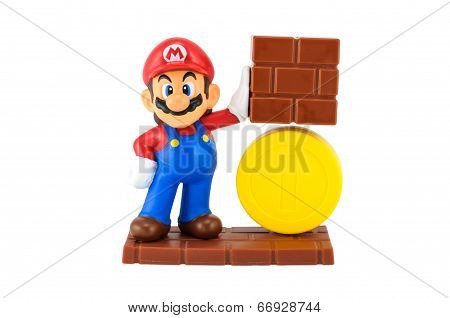 Super Mario With Gold Coin