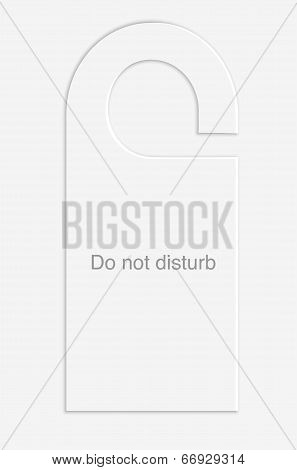 Do Not Disturb Hotel Door Label. Vector Eps10 Illustration