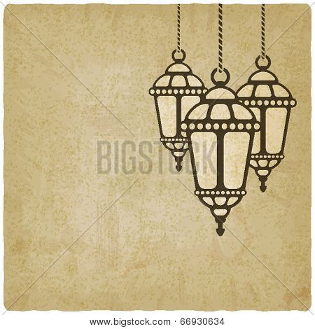 Ramadan lantern old background