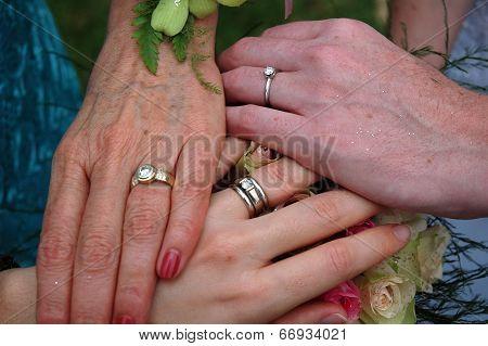 3 Generations Of Hands