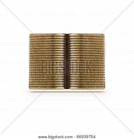 Bronze Open Book Symbol