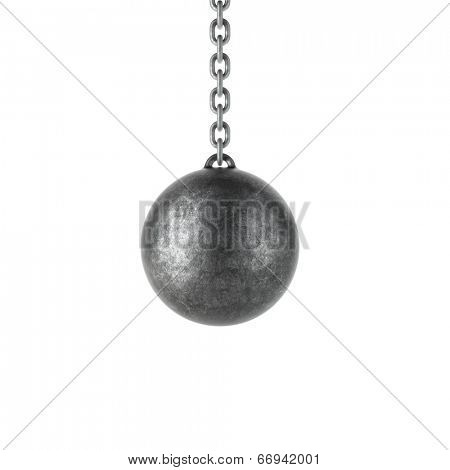 Wrecking ball isolated on a white background.