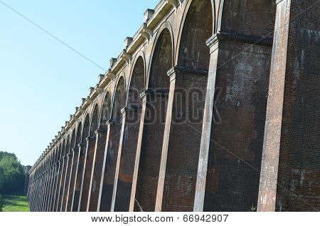 Railway viaduct arches.