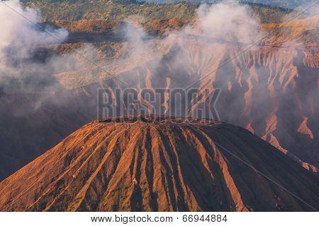 Mount Batok in  Bromo-Tengger-Semeru National Park, Indonesia