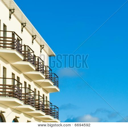Hotel with balcony
