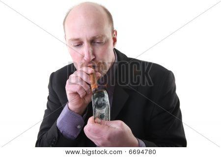 Cigar Smoking Wealth Dollar