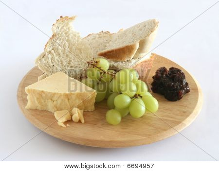 Bread Cheese Pickle Grapes