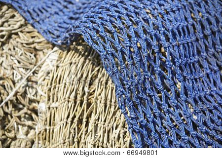 Fishing - Old Fishing Nets In The Harbor