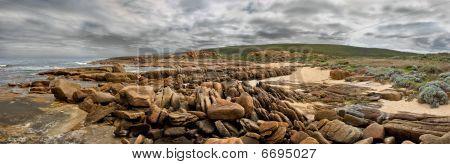 Panorama Of Rocky Beach Head