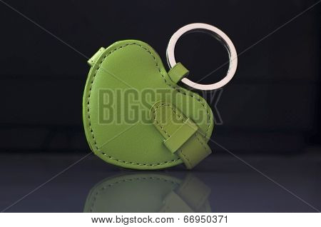 Green leather trinket