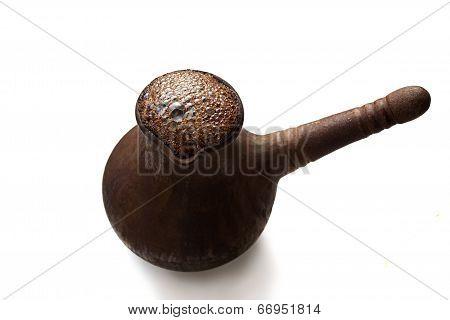 Turkish Coffee Pot (jezve) Isolated On White Background