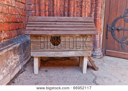 Wooden Cat Kennel In Riga, Latvia