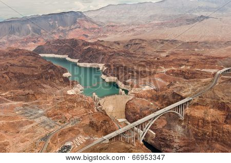 Hoover Dam Taken From Helicopter