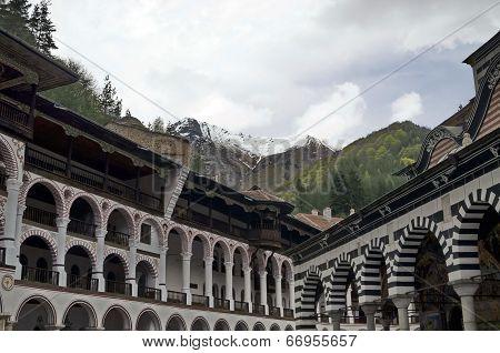 Rila monastery, the most famous monastery in Bulgaria