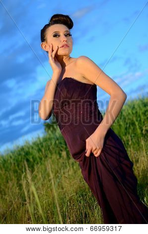 Beautiful Girl Outdoor Portrait
