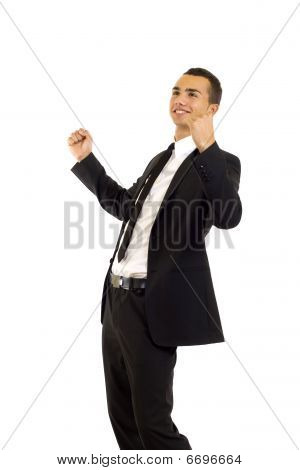 Businessman Shouting Loudly