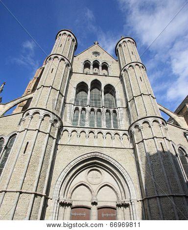 medieval cathedral of Brugge