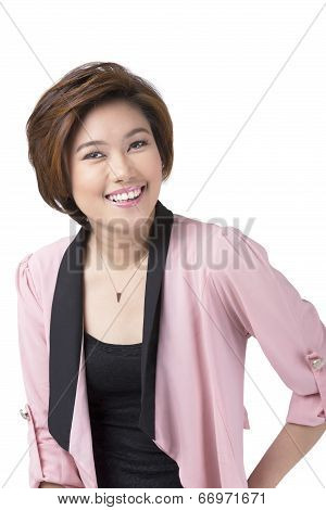 Smiling Asian Filipina Businesswoman