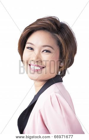 Smiling Young Asian Professional Woman