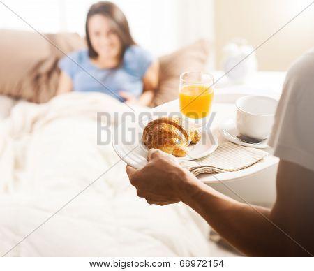 Young Couple Having Luxury Breakfast