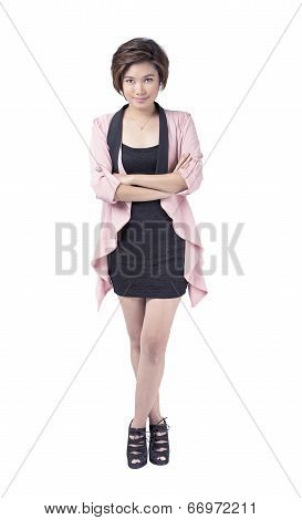 Standing Young Asian Businesswoman