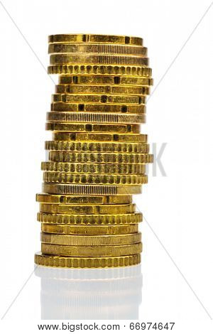a stack of coins, symbolic photo for finance, savings and deposits