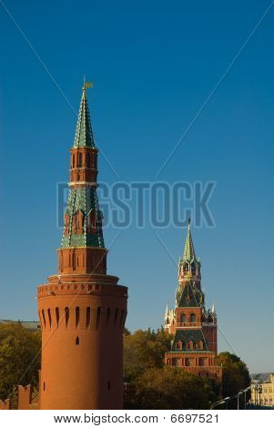 Moscow. Towers Of Kremlin