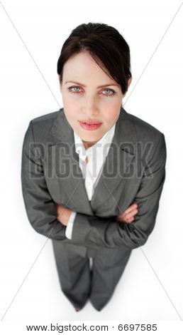 Portrait Of A Charismatic Businesswoman With Folded Arms