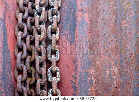 Old Rusty Chains On Rotor