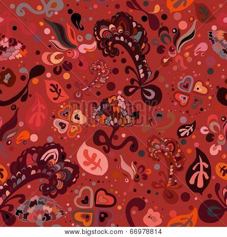 garish doodle seamless pattern