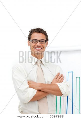 Attractive Latin Businessman With Folded Arms