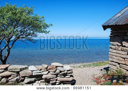 Costal View At A Calm Bay