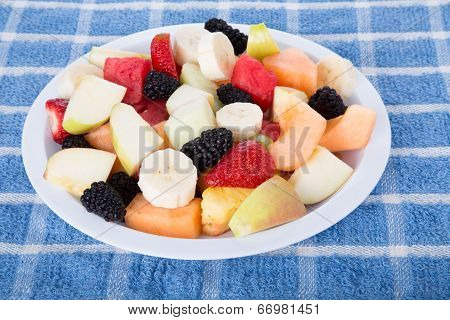 Cut Fruit With Sliced Bananas