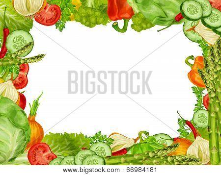 Vegetables set frame