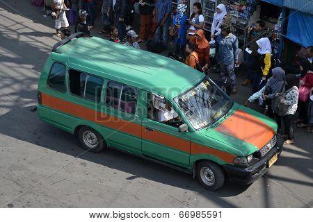angkot-public transportation in bandung