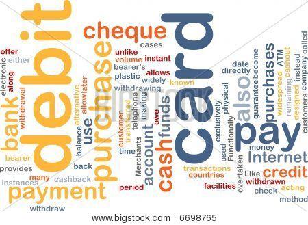 Debit-Karte Wort-Wolke