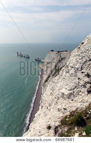 The Needles Isle of Wight landmark by Alum Bay