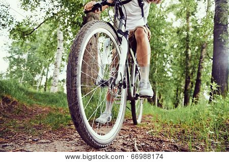 Man Is Bicycling