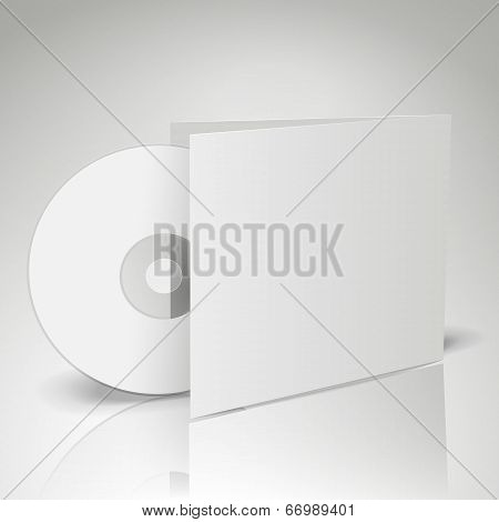 3D Vector Blank Compact Disk
