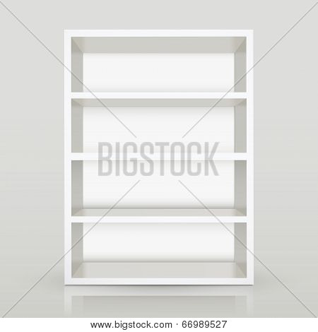3D Vector White Blank Shelf