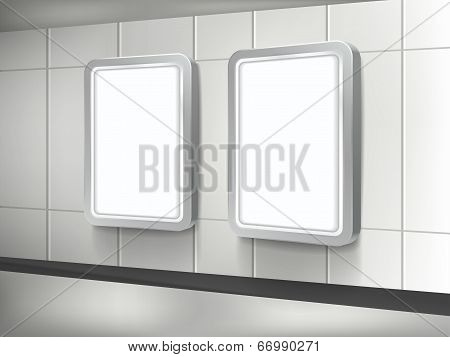 Vector 3D Blank Billboard And Lightbox