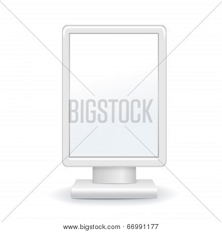 Vector Illustration Of Blank Outdoor Advertising Lightbox