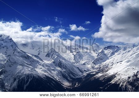 Snowy Mountains At Nice Day