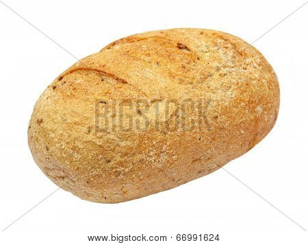 Fresh Appetizing Wholegrain Bread.isolated.