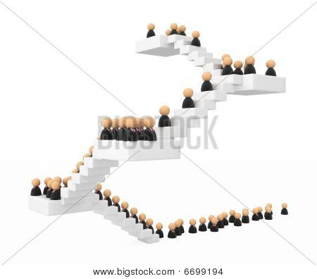 Business Symbols, Crowd Stair