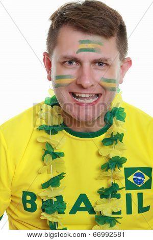 Male Soccer Fan Brazil