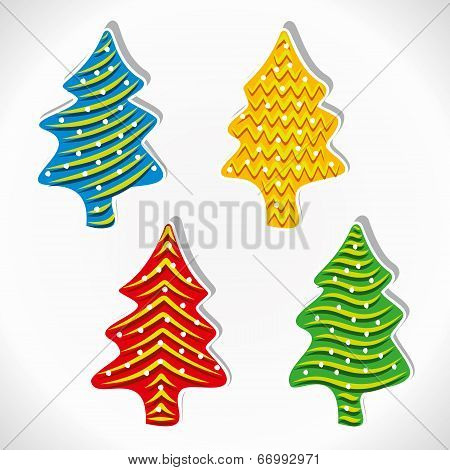 creative chrismtas tree design vector