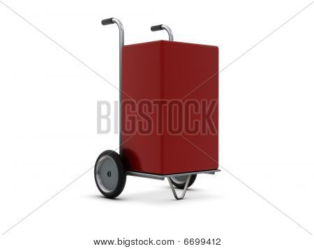 Delivery Cart With Red Box