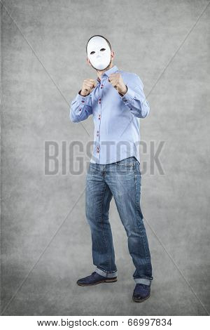 Unidentified Businessman Ready To Fight