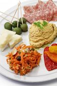 image of antipasto  - homemade assortment of appetizers - JPG
